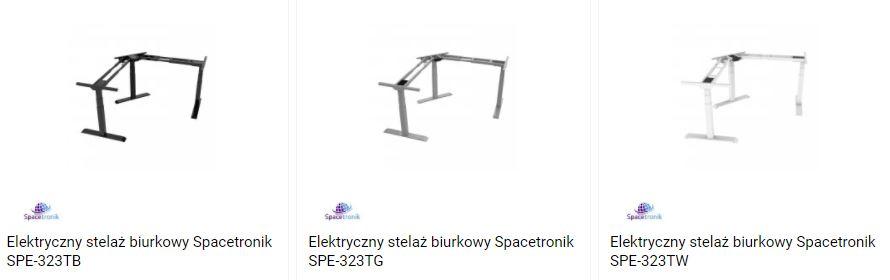3 kolory biurka ergnomicznego