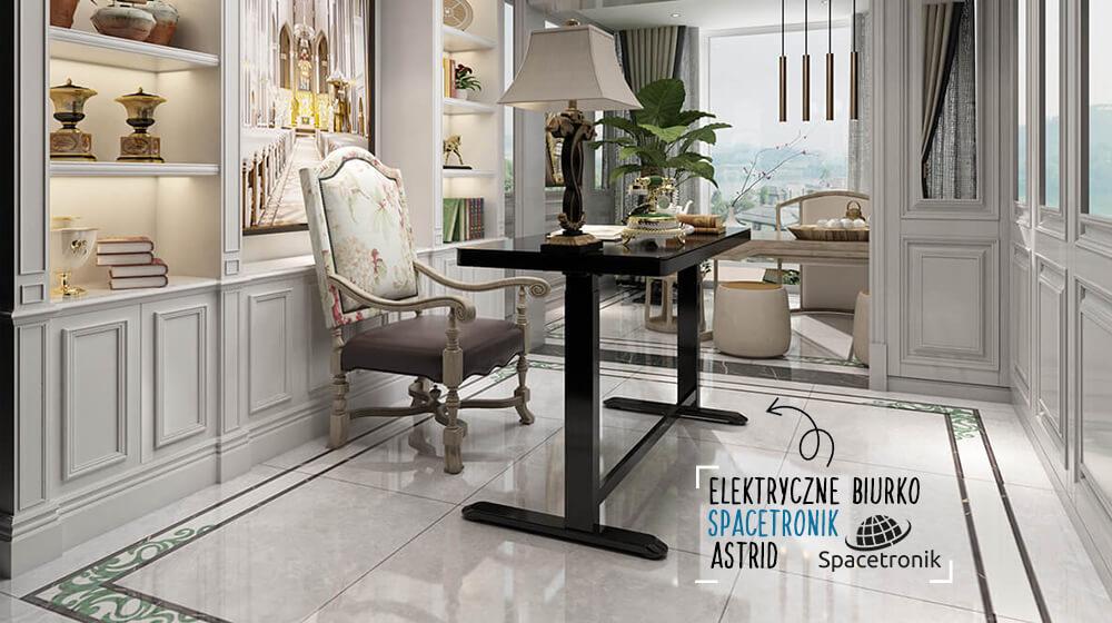 Praca na stojąco i siedząco, czyli biurko elektryczne Spacetronik Astrid SPE-B128BG