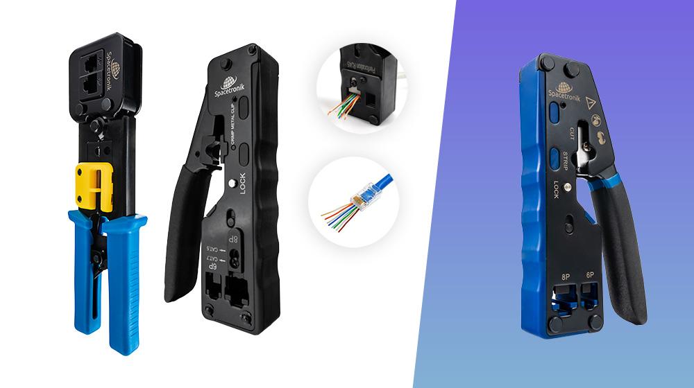 Zaciskarki do wtyków RJ przelotowych i standardowych od Spacetronik – Nowości