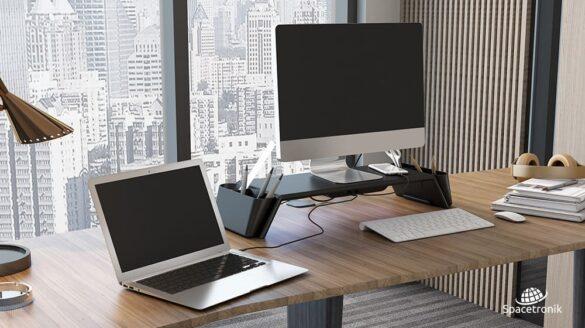 Podstawki na biurko pod monitor Spacetronik Ergoline
